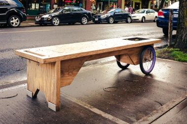 Portland Dog Bike Bench-9884